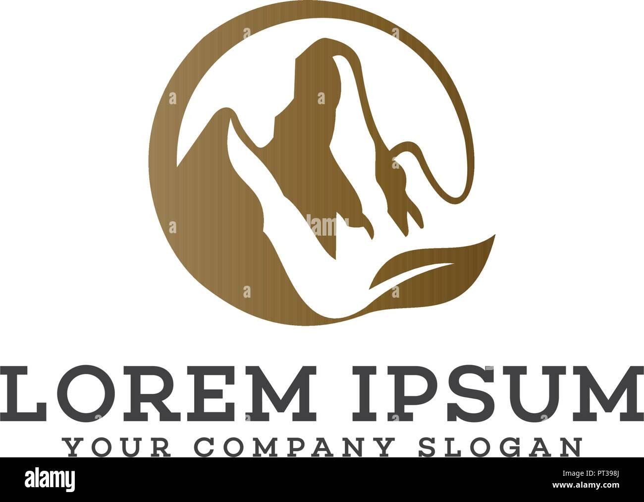 mountain logo design concept template - Stock Vector