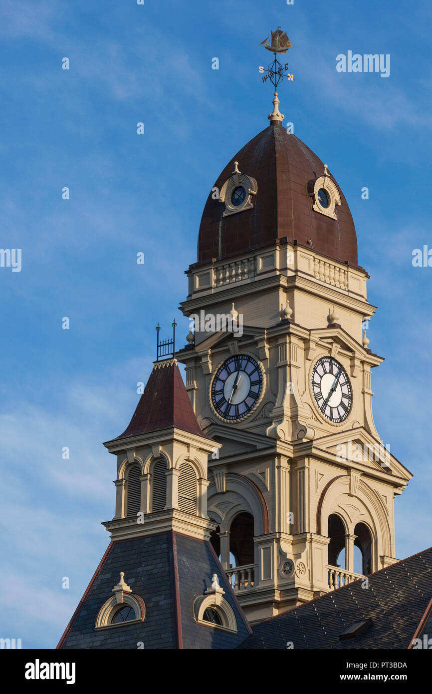 USA, New England, Massachusetts, Cape Ann, Gloucester,  Gloucester City Hall - Stock Image