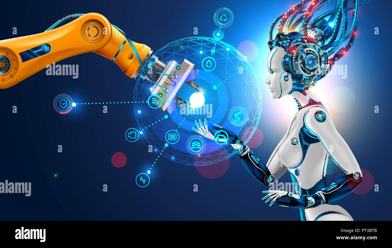 Robot With Artificial Intelligence Takes Control Of Factory Into