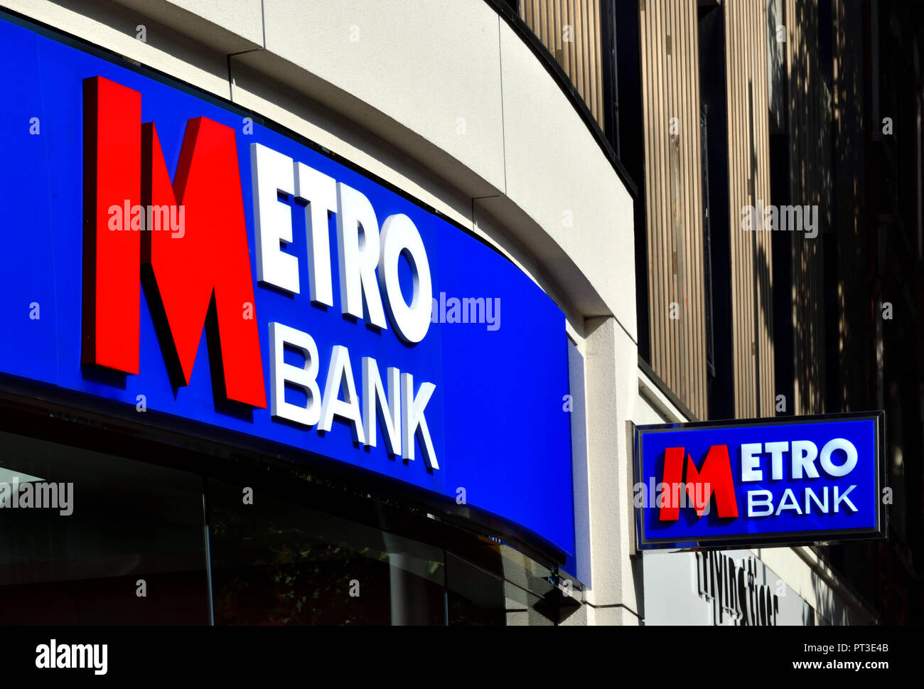 Metro Bank frontage, King's Road, London, England, UK. - Stock Image
