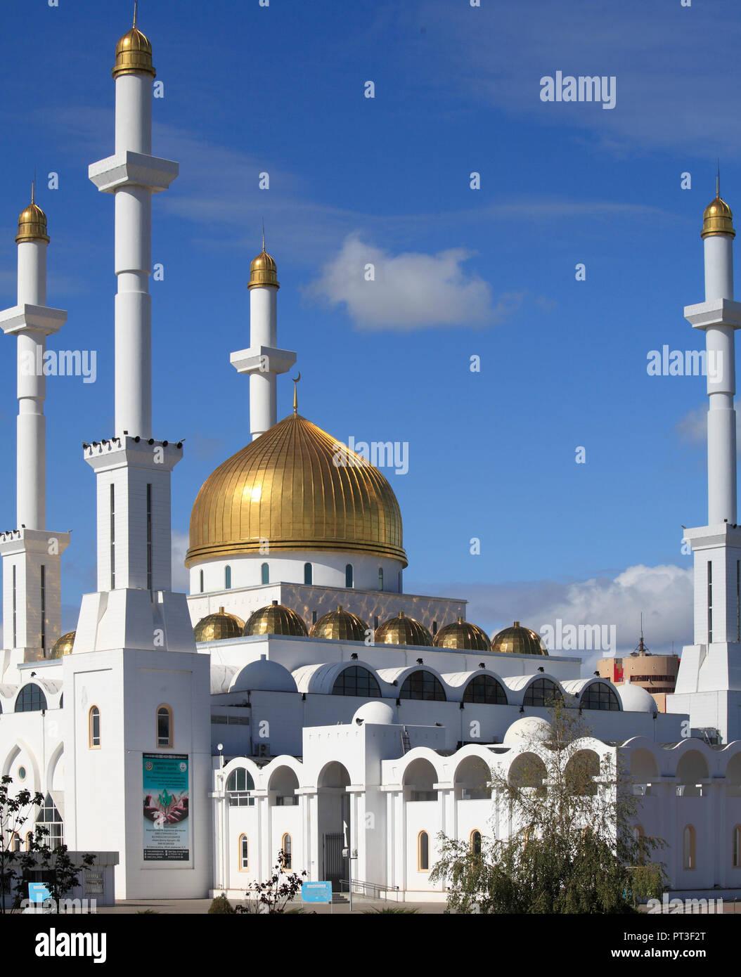 Kazakhstan; Astana; Nur Astana Mosque, Stock Photo
