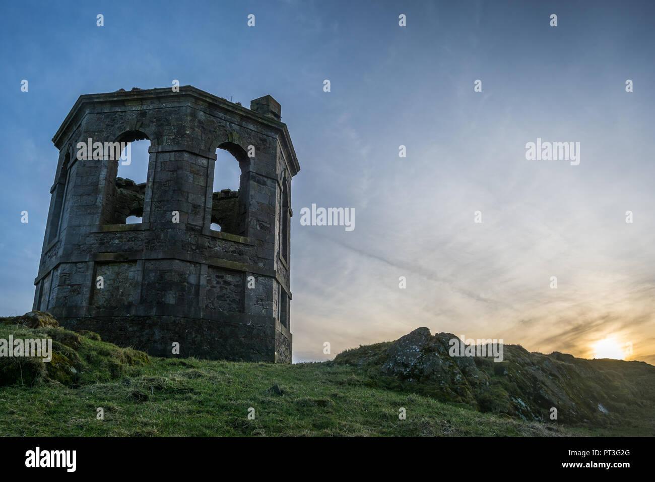 The Castle Semple Temple Stock Photo