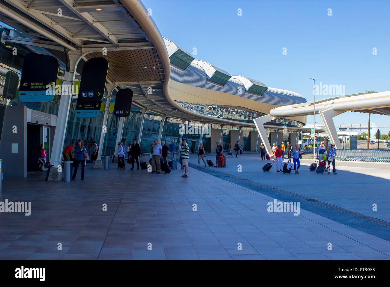 5 October 2018 The entrance to the ultra modern departures