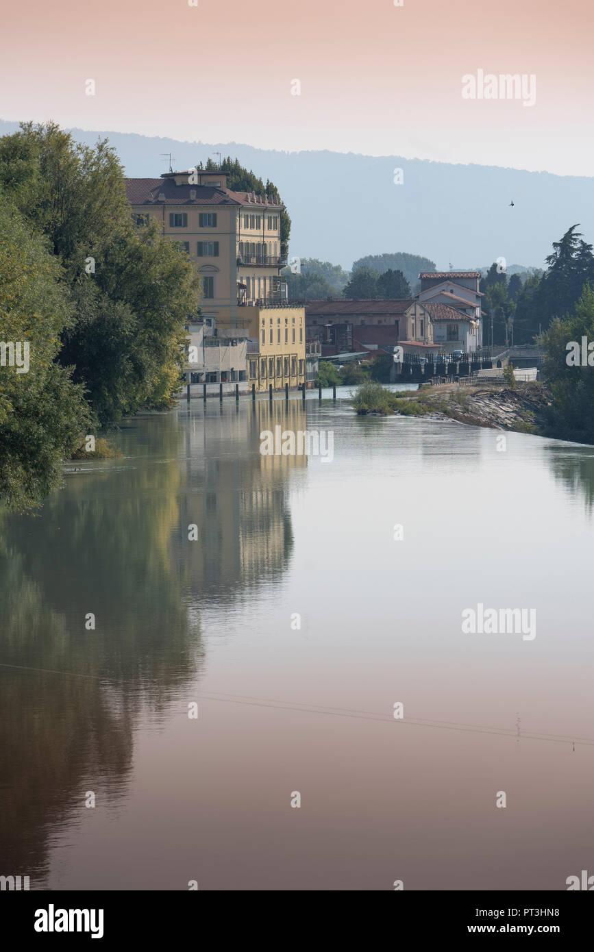 Ivrea, comune of the Metropolitan City of Turin, Piedmont region of northwestern Italy, Post Industrial Itlay. Ollivetti. - Stock Image