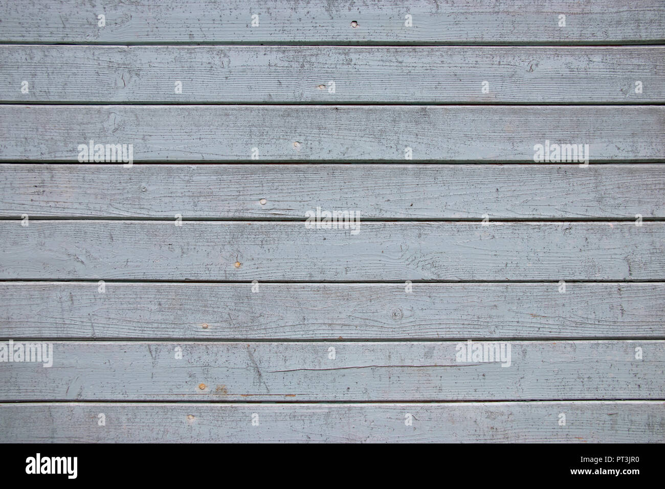 Aged painted gray wooden background abstract horizontal lines - Stock Image