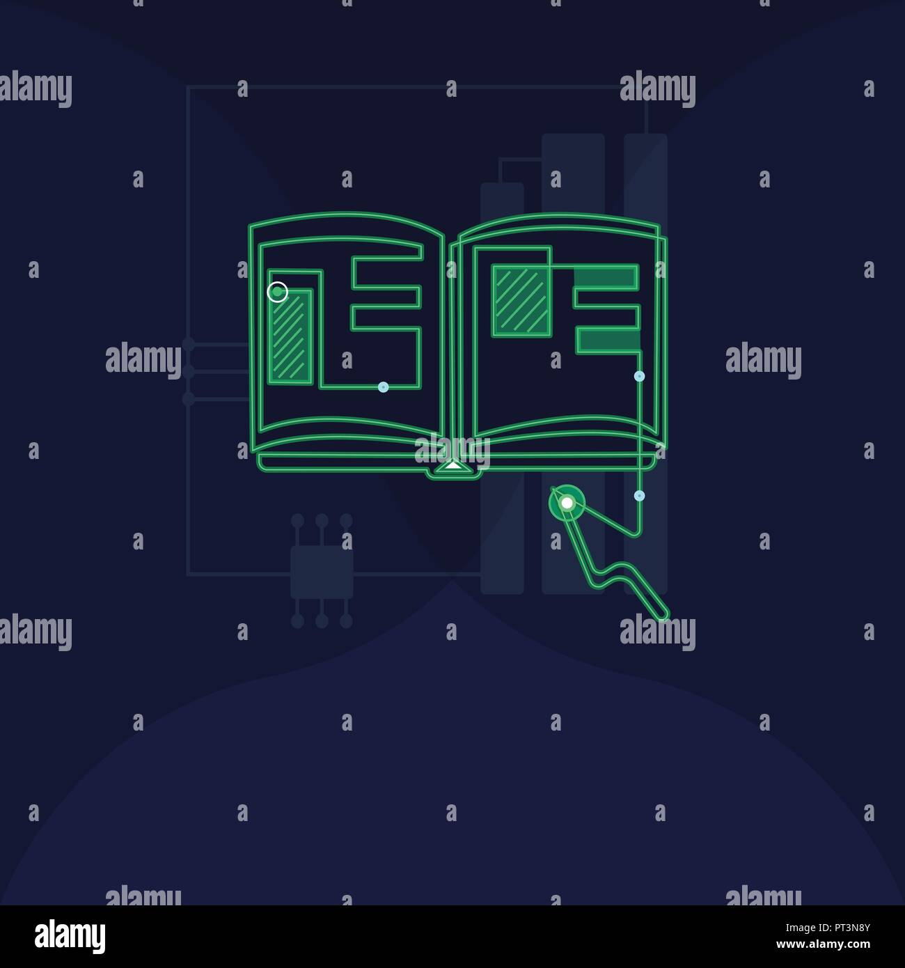flat design business vector illustration empty copy space for adflat design business vector illustration empty copy space for ad website promotion esp isolated banner template open book with electronic circuit lay