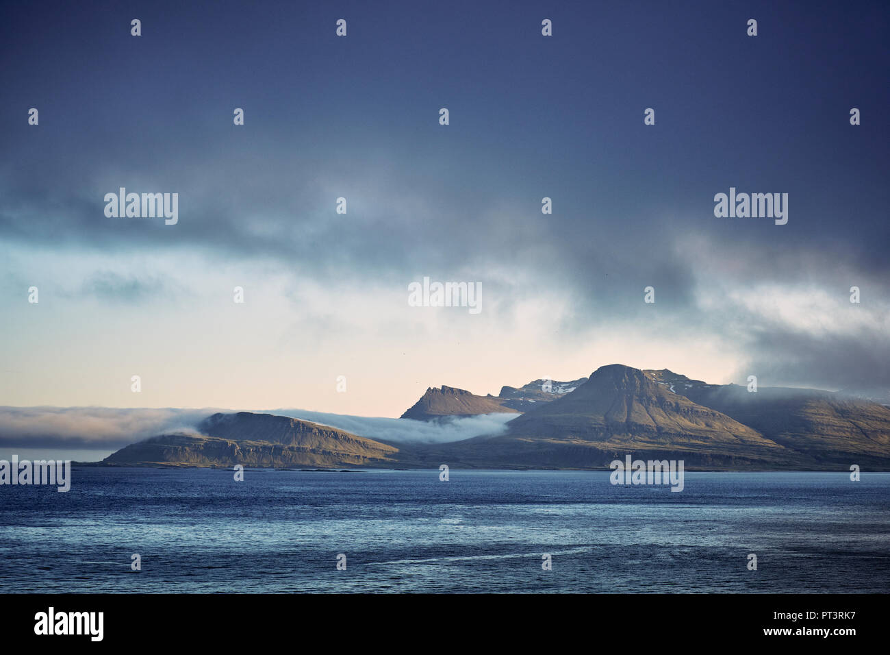The rugged landscape of the East Fjords region of Iceland. - Stock Image