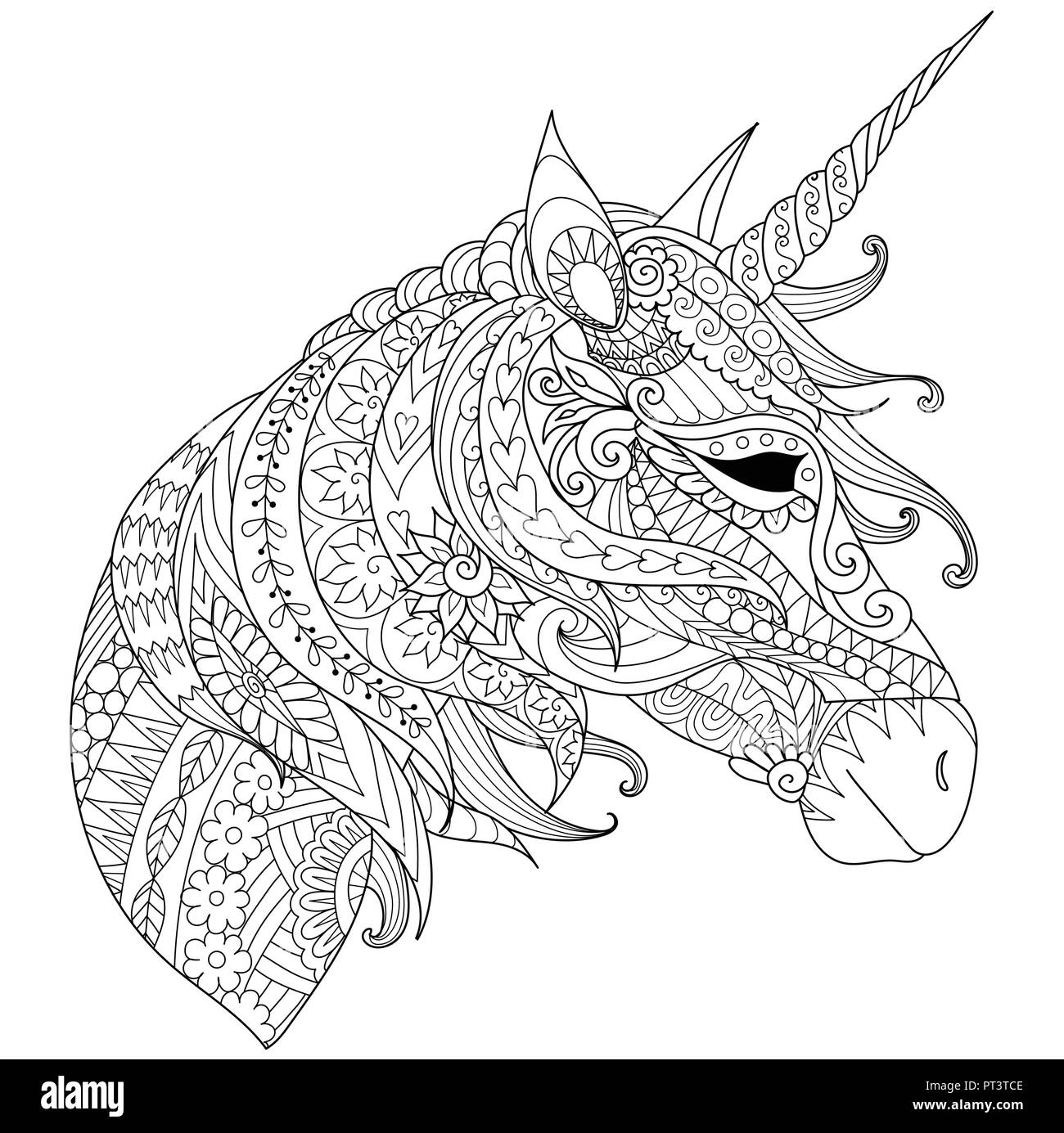 - Coloring Book For Adults. Colouring Pictures With Fairytale Magic