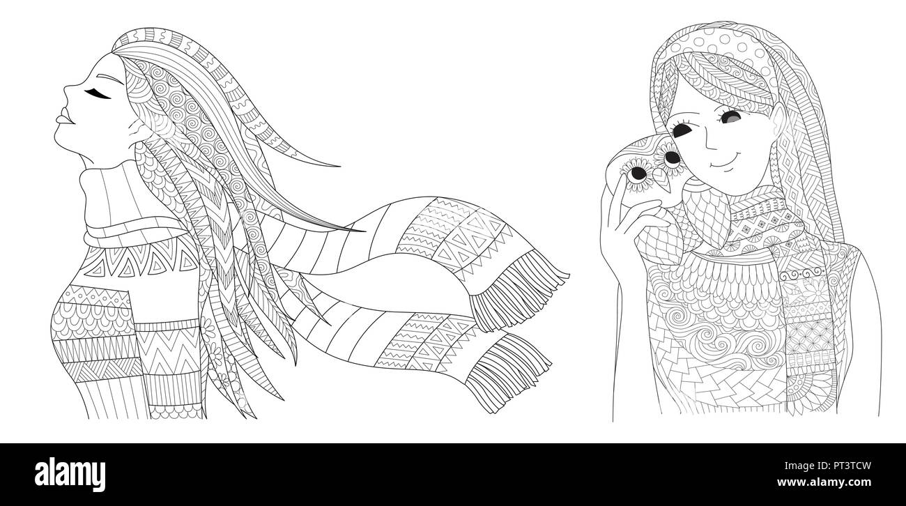 Coloring Pages. Coloring Book for adults. Colouring pictures set of ...