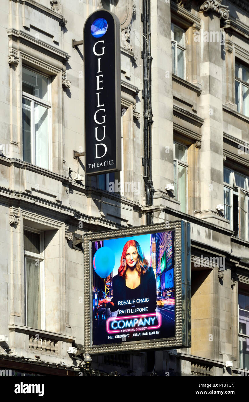 'Company' (Stephen Sondheim musical) at the Gielgud Theatre, Shaftesbury Avenue, London, England, UK. October 2018. Starring Rosalie Craig and Patti L - Stock Image