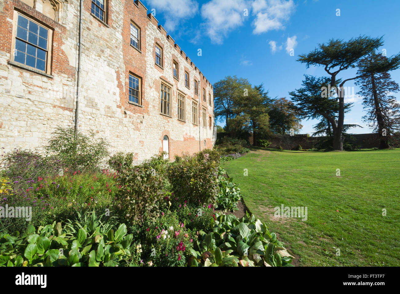 Farnham Castle Bishops Palace and gardens, a visitor attraction in Surrey, UK - Stock Image