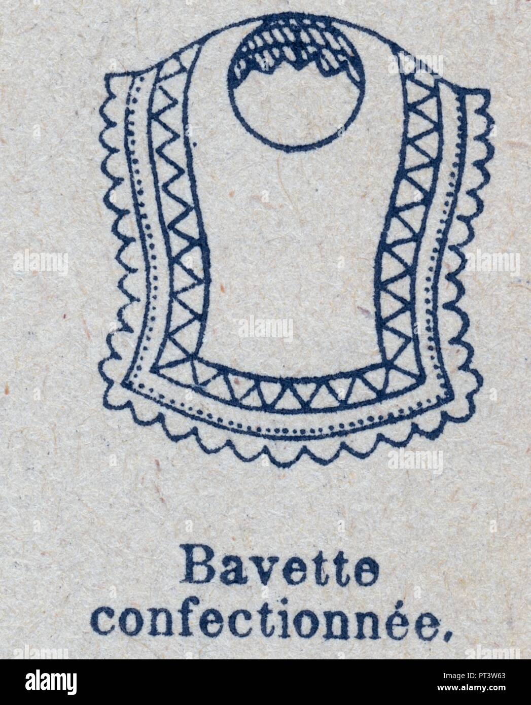 BAVETTE CONFECTIONNEE Stock Photo
