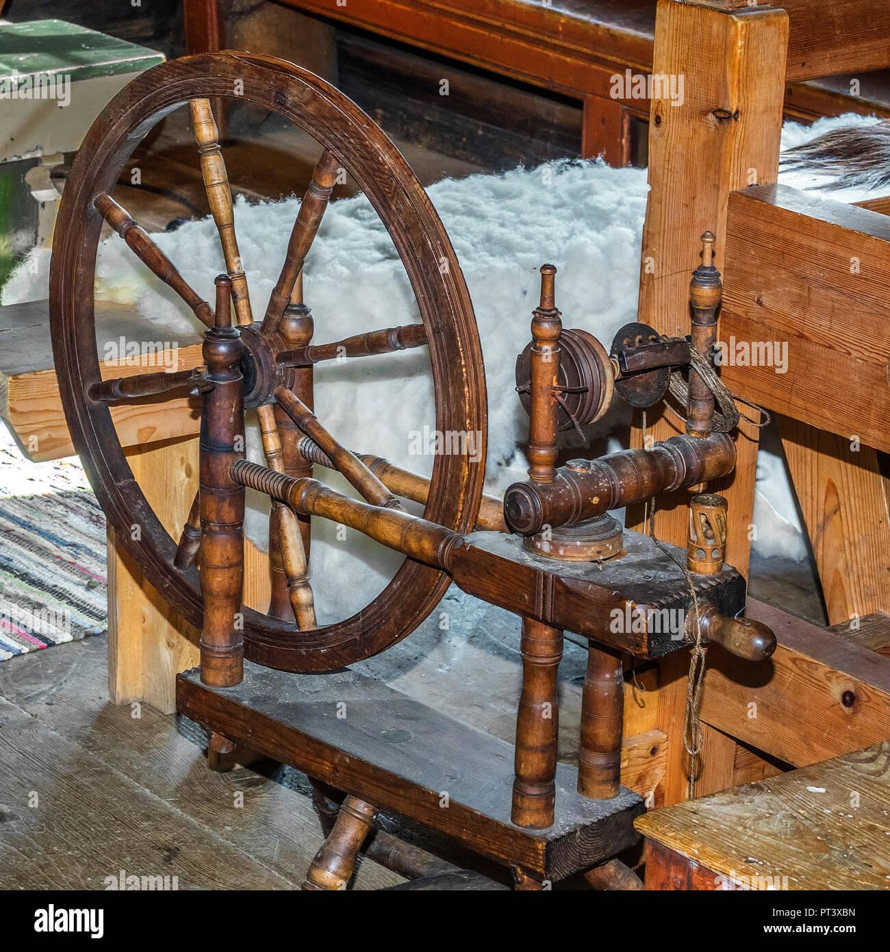 Old Spinning Wheel Sunnmore Museum Alesund Norway Stock Photo Alamy