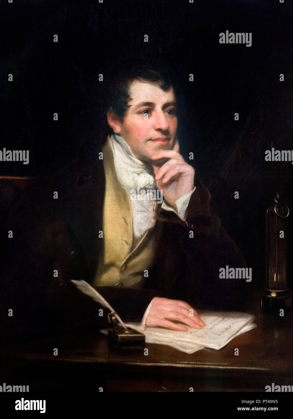 Sir Humphry Davy (1778 -1829), portrait by Thomas Phillips, oil on canvas, 1821. - Stock Image
