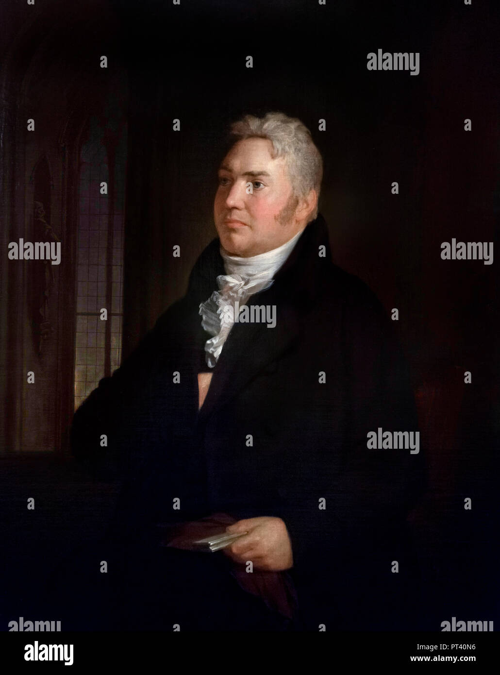 Samuel Taylor Coleridge (1772-1834) portrait by Washington Allston, oil on canves, 1814. - Stock Image