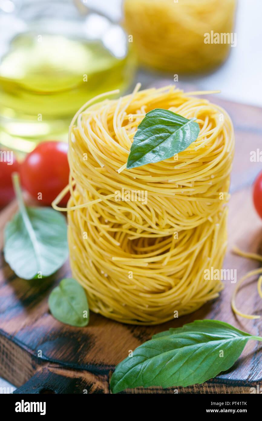 Raw Egg Pasta Nest Homemade Capelli D Angelo Angel S Hair