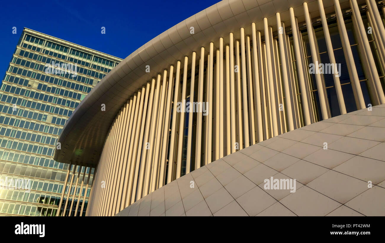 Philharmonie Luxembourg on the Kirchberg Plateau, Luxembourg City, Luxembourg - Stock Image