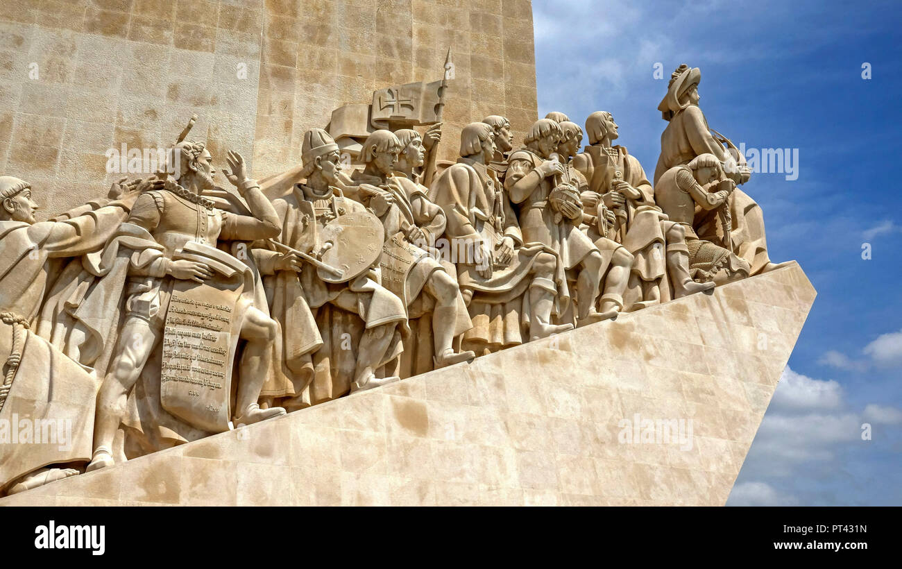 Discovery Monument 'Padrao dos Descobrimentos' in Belem, Lisbon, Portugal, Europe - Stock Image