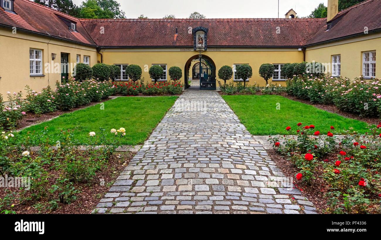 The Economics in the English Garden, Lehel, Munich, Upper Bavaria, Bavaria, Germany - Stock Image