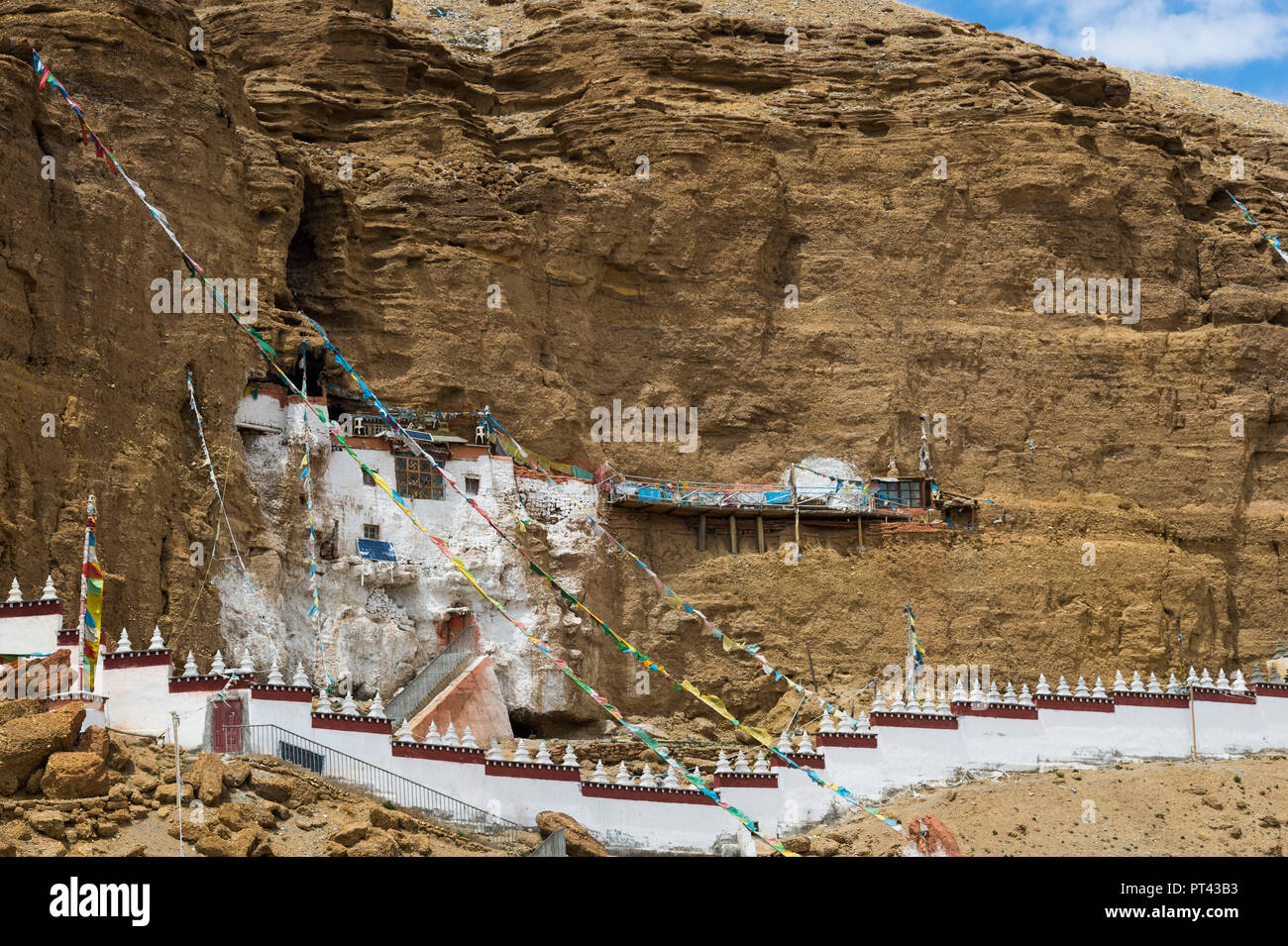 Khyunglung Monastery in Tibet, - Stock Image