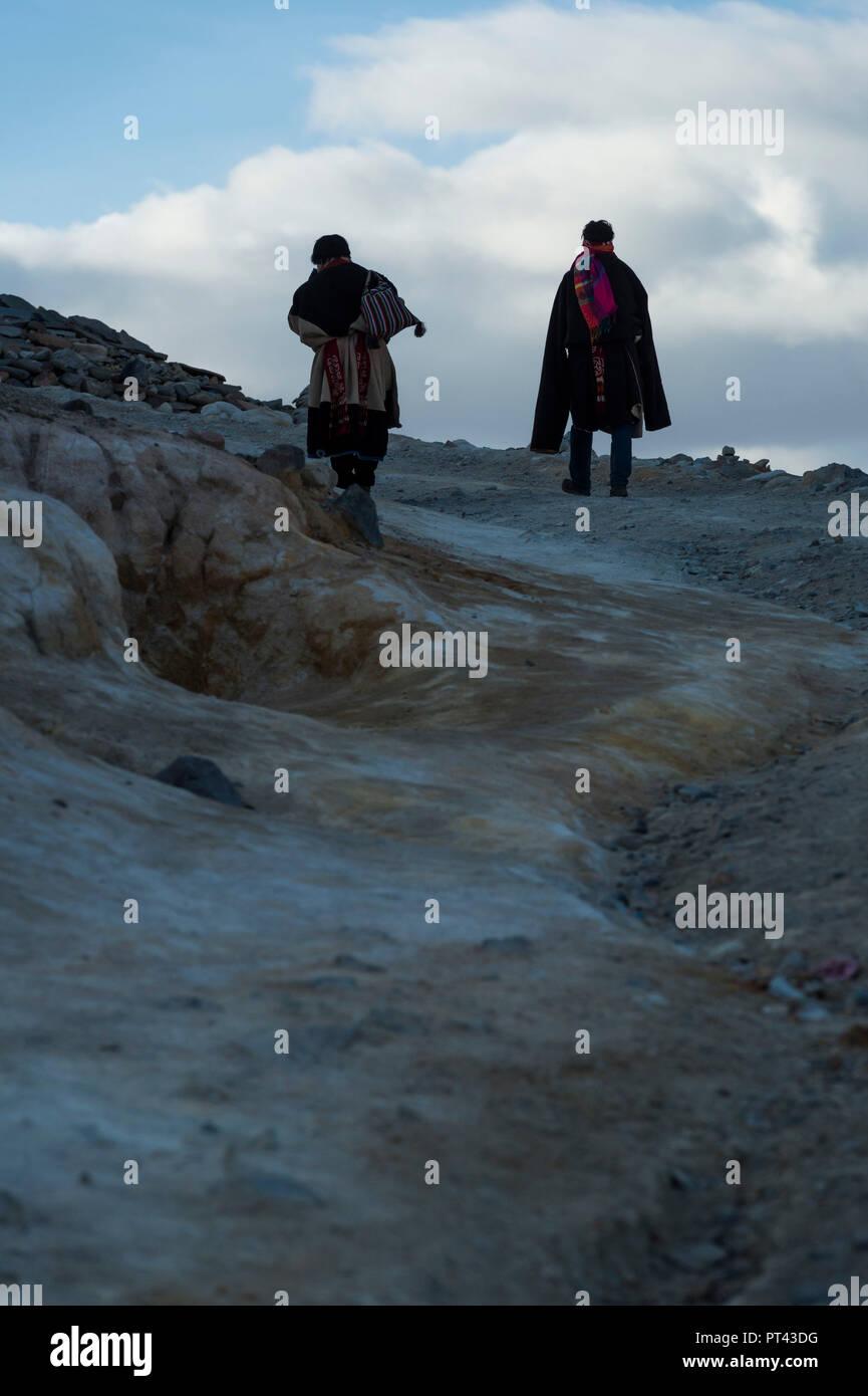 Tirtaphuri monastery in Tibet, - Stock Image