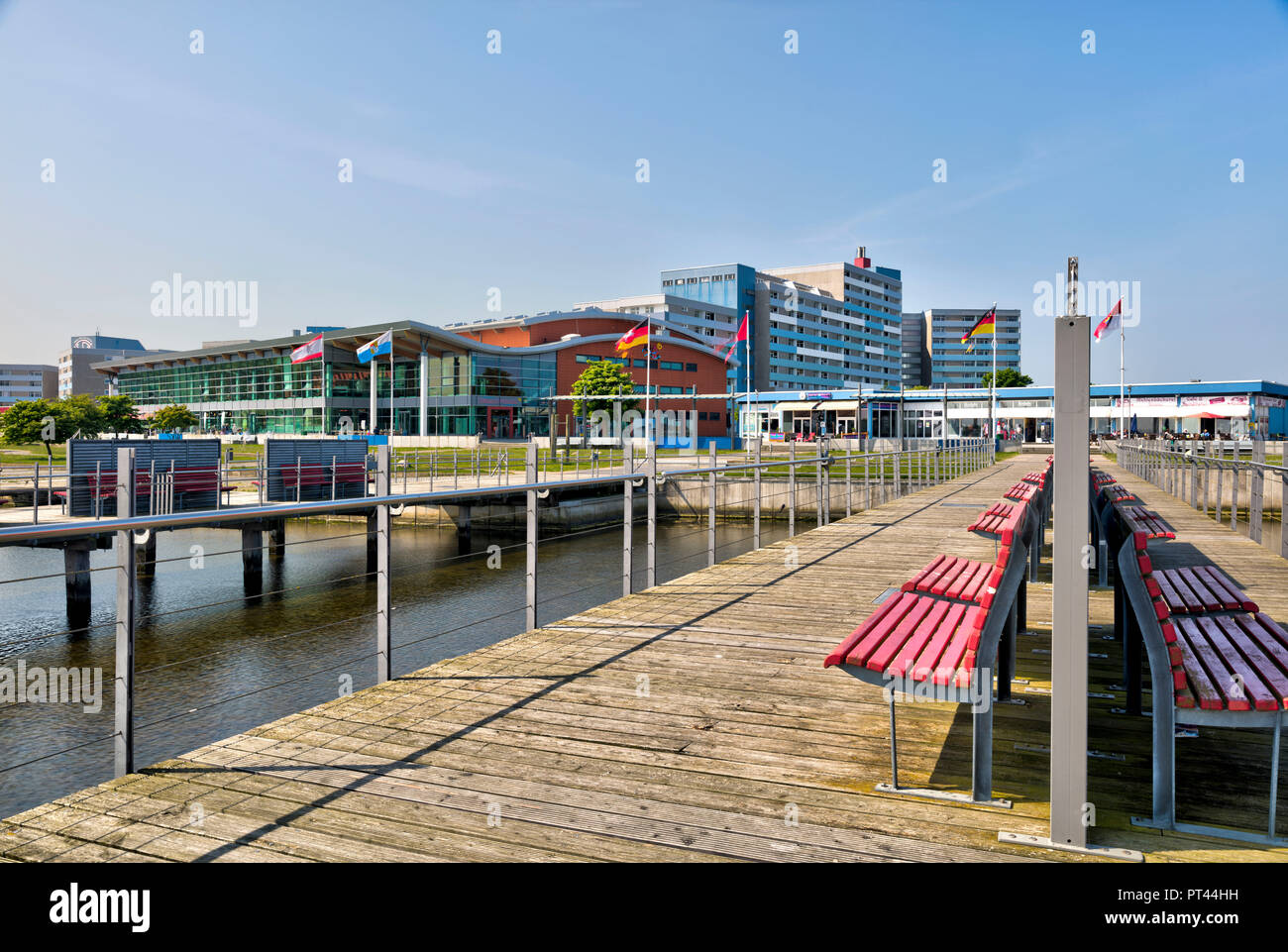 holiday park am Steinwarder, inland lake, Holiday Park, Heiligenhafen, Baltic Sea, Schleswig Holstein, Germany, Europe - Stock Image