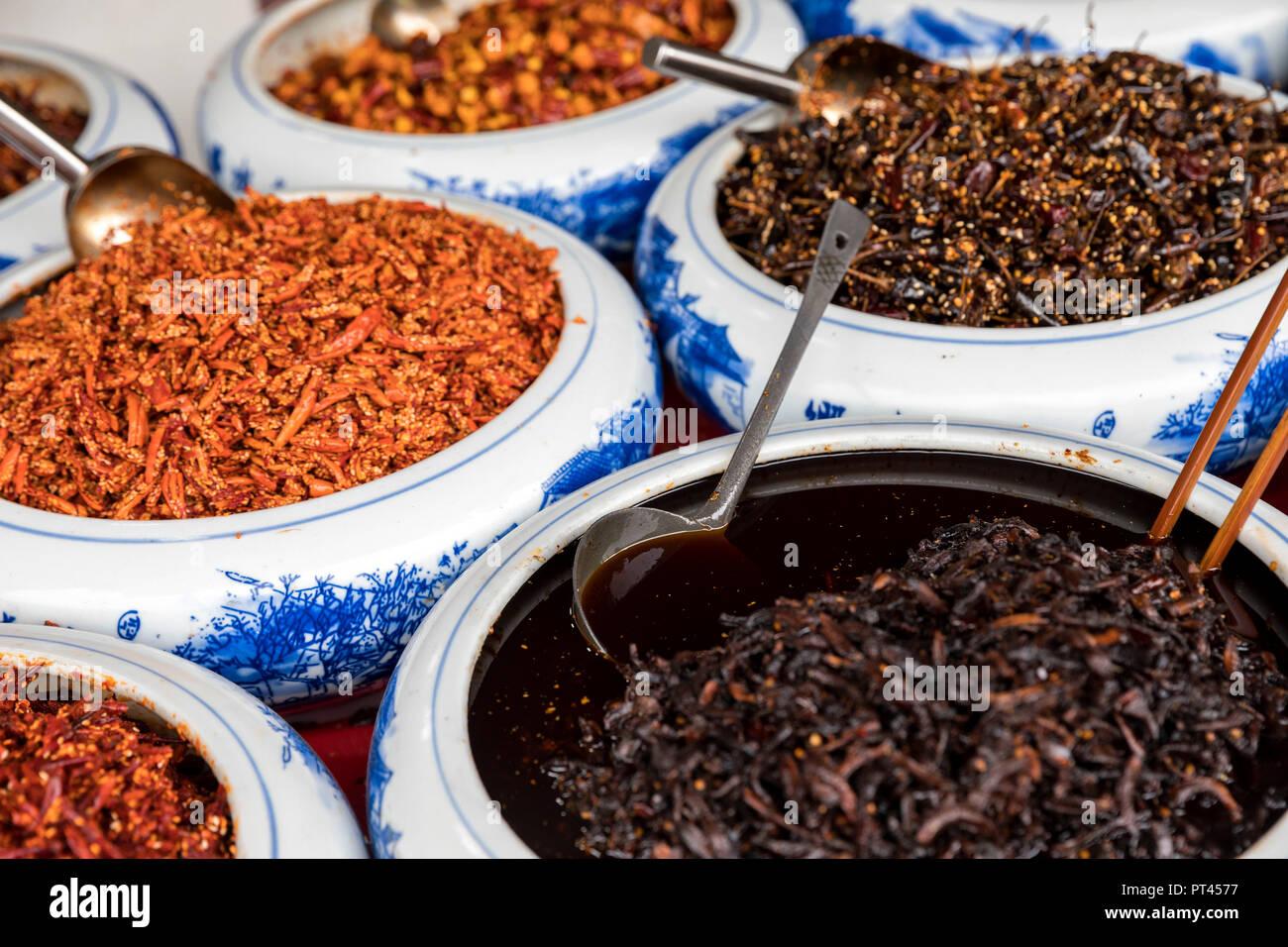 Chinese spices, Qingyan, Guizhou, China Stock Photo