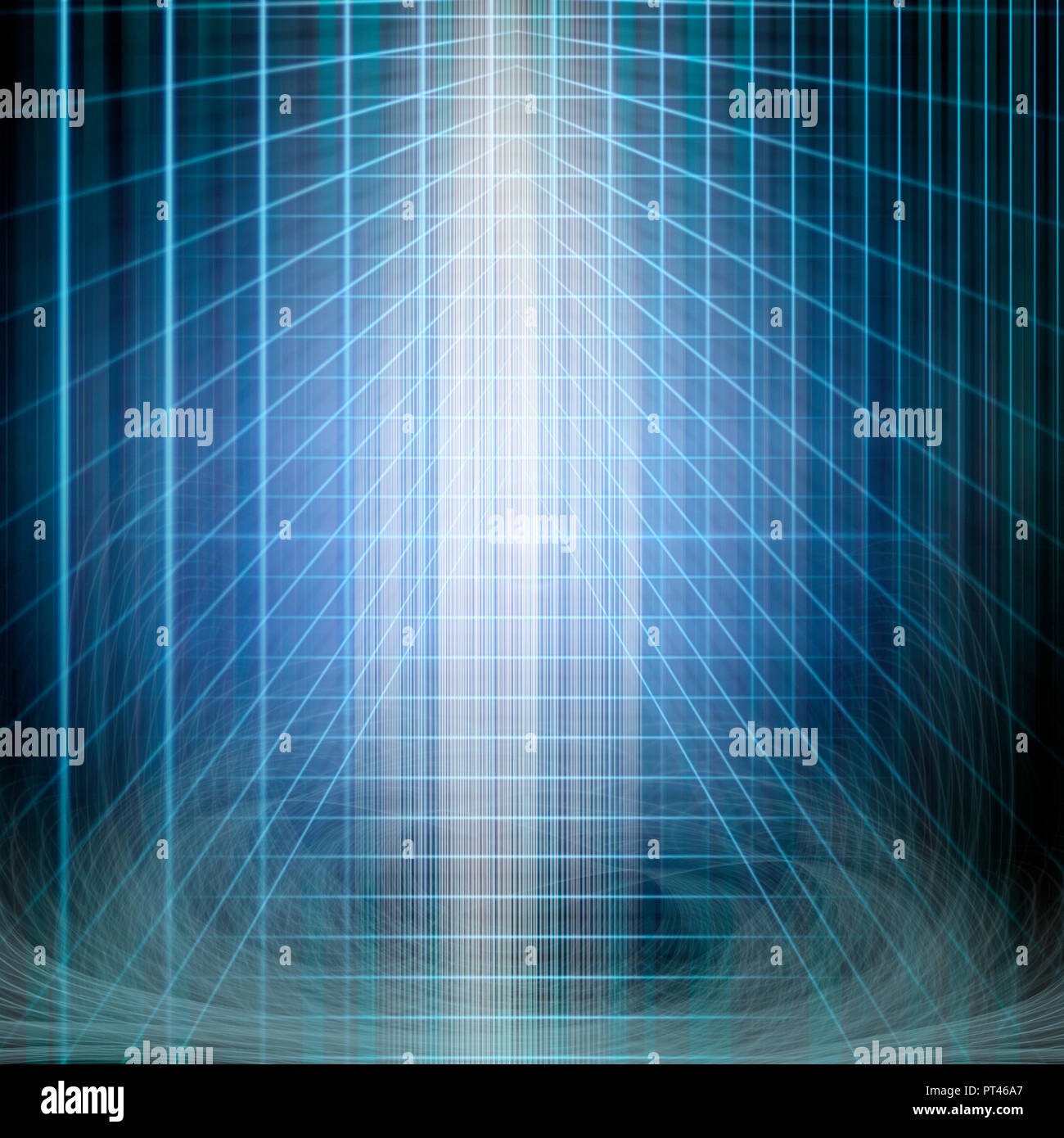 background image of abstract structural blue light manipulation - Stock Image