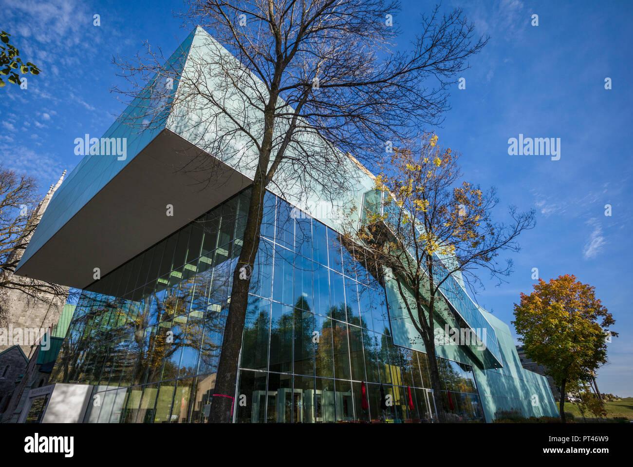 Canada, Quebec, Quebec City, Musee National des Beaux-Arts du Quebec, MNBAQ, pavillon Pierre-Lassonde, 2016, exterior Stock Photo