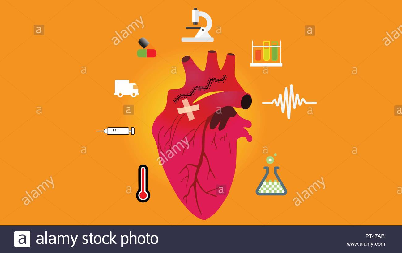 Mending a red broken heart.Infidelity concept Stock Vector