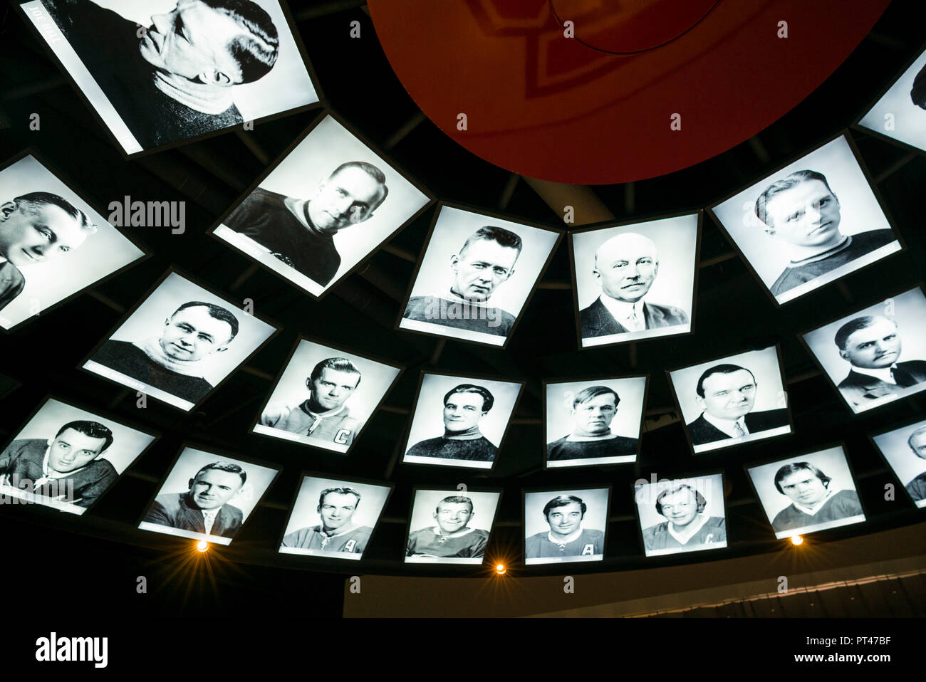 Canada, Quebec, Montreal, Bell Centre, Montreal Canadiens Hall of Fame, in arena of Montreal hockey team - Stock Image
