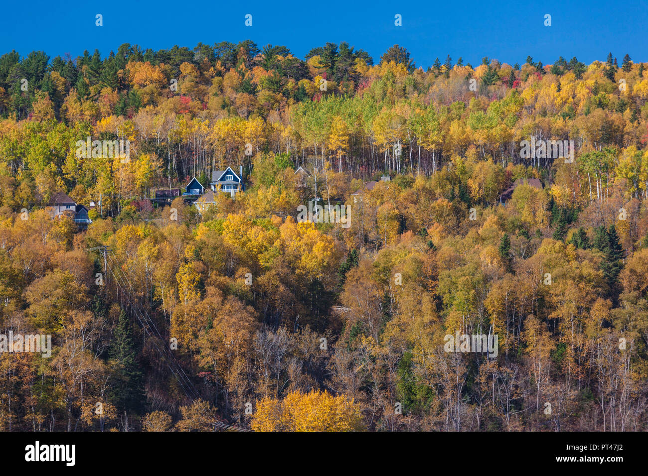 Canada, Quebec , Capitale-Nationale Region, Charlevoix, La Malbaie, autumn - Stock Image