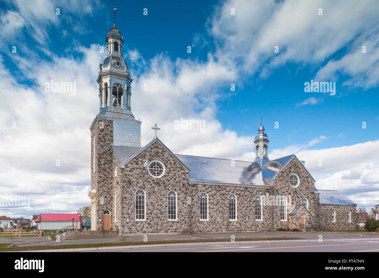 Canada, Quebec, Gaspe Peninsula, Bonaventure, town church - Stock Image