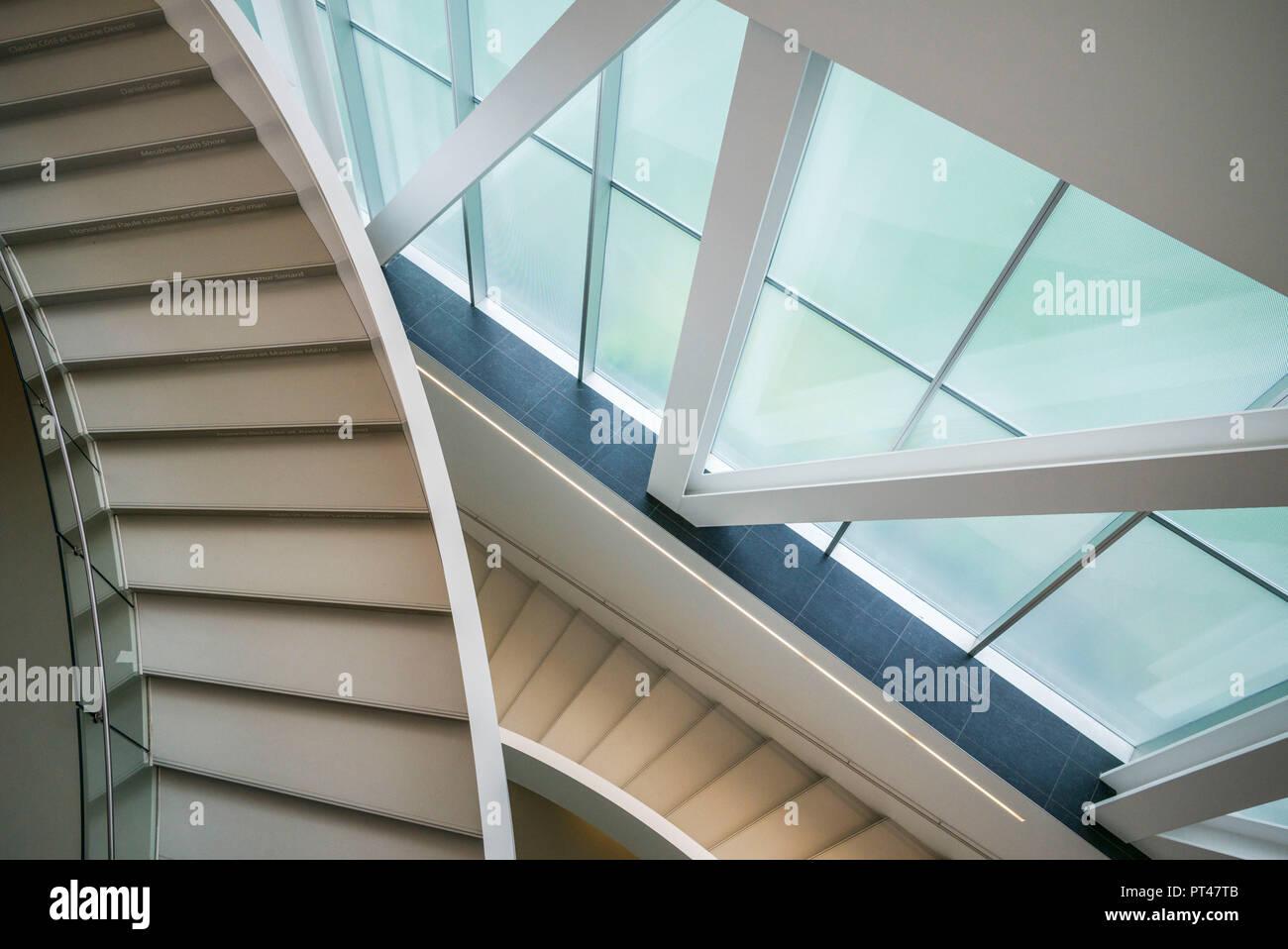 Canada, Quebec, Quebec City, Musee National des Beaux-Arts du Quebec, MNBAQ, pavillon Pierre-Lassonde, 2016, stairs Stock Photo
