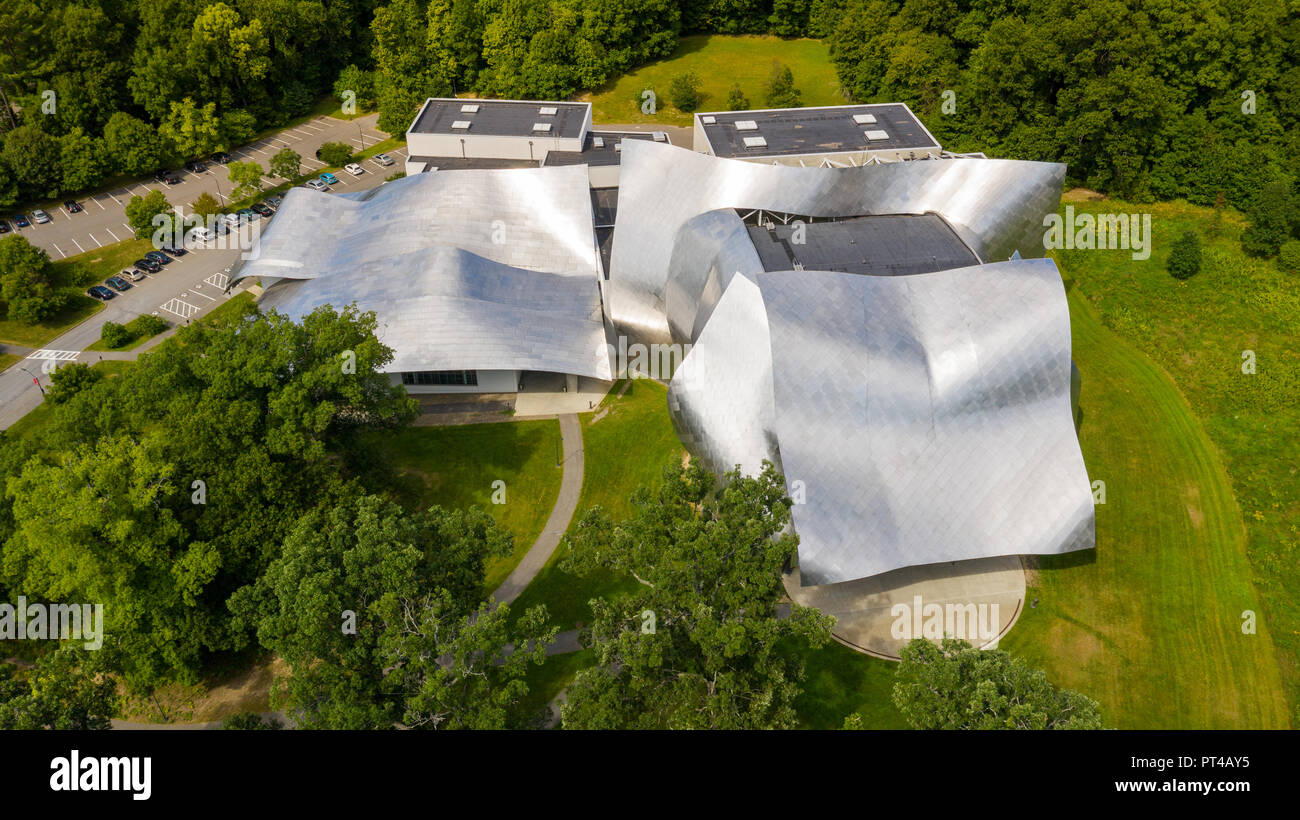 Richard B. Fisher Center for the Performing Arts, or Fisher Hall,  Bard College, Annandale-on-Hudson, NY, USA - Stock Image