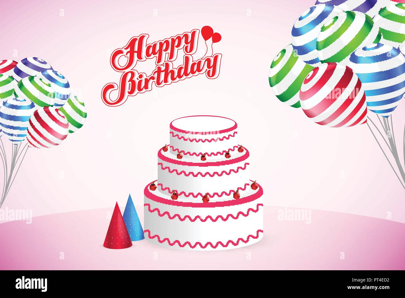 Happy Birthday Party Vector Template Design Background Stock Vector Image Art Alamy