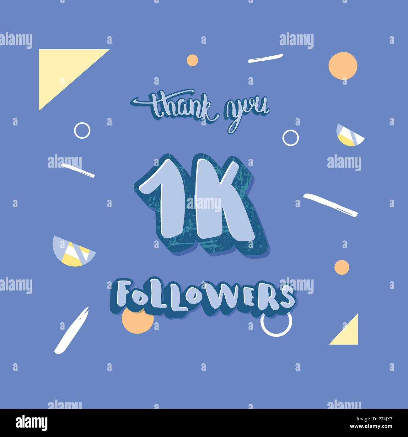 social media template of 1k followers thank you banner for internet