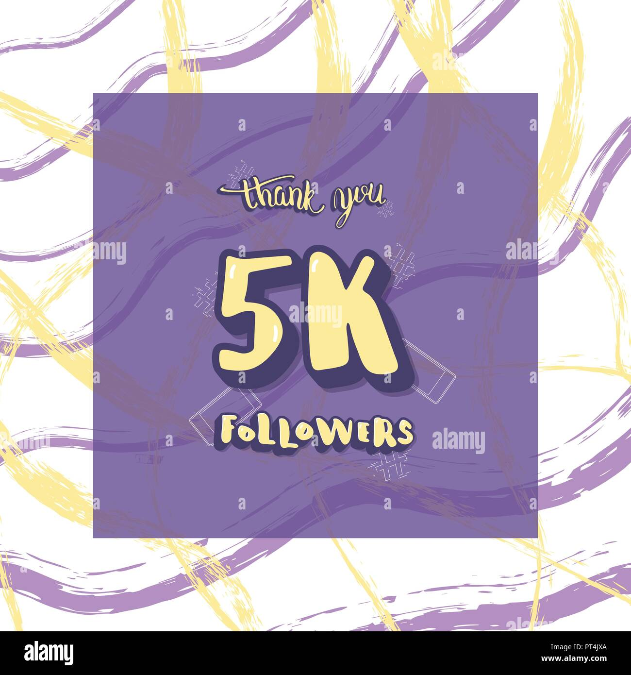 5k followers thank you social media template banner for internet