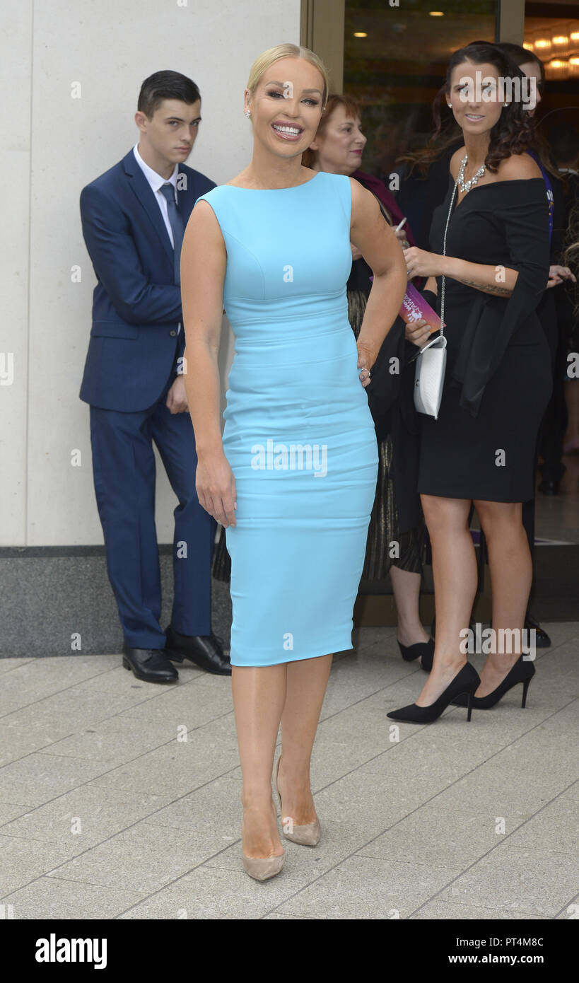 Various celebrities attend WellChild Awards 2018 - Arrivals  Featuring: Katie Piper Where: London, United Kingdom When: 05 Sep 2018 Credit: WENN.com - Stock Image