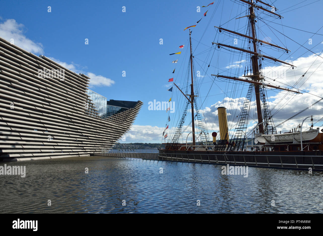 Dundee V&A Museum; Dundee; Angus, Scotland; Great Britain; UK; United Kingdom; Europe; Opened 15th. September 2018. Designed by Japanese architect Ken - Stock Image
