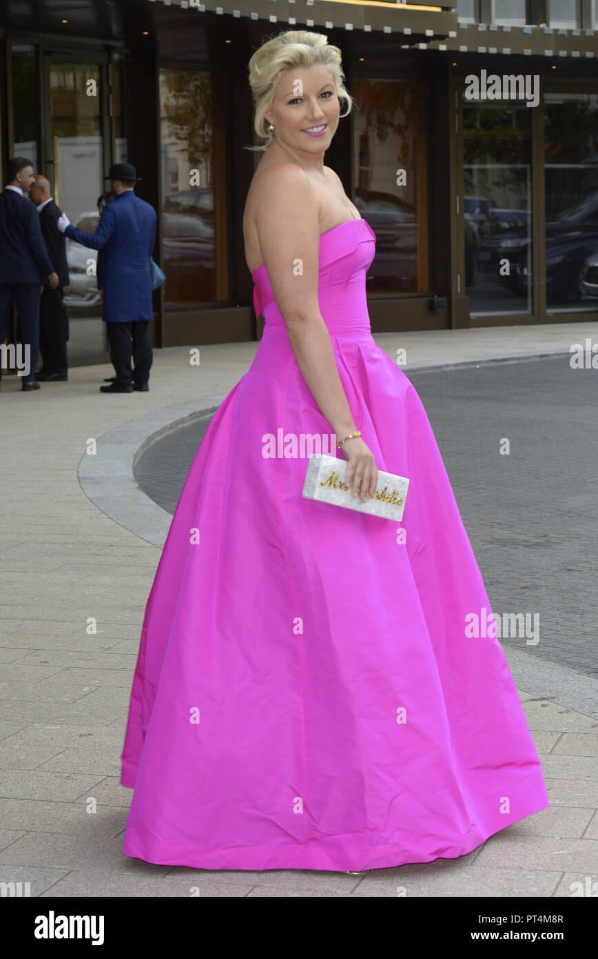 Various celebrities attend WellChild Awards 2018 - Arrivals  Featuring: Natalie Rushdie Where: London, United Kingdom When: 05 Sep 2018 Credit: WENN.com - Stock Image