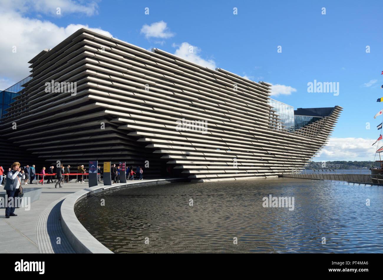 Dundee V&A Museum; Dundee; Scotland; Great Britain; UK; United Kingdom; Europe; Opened 15th. September 2018. Designed by Japanese architect Kengo Kuma - Stock Image
