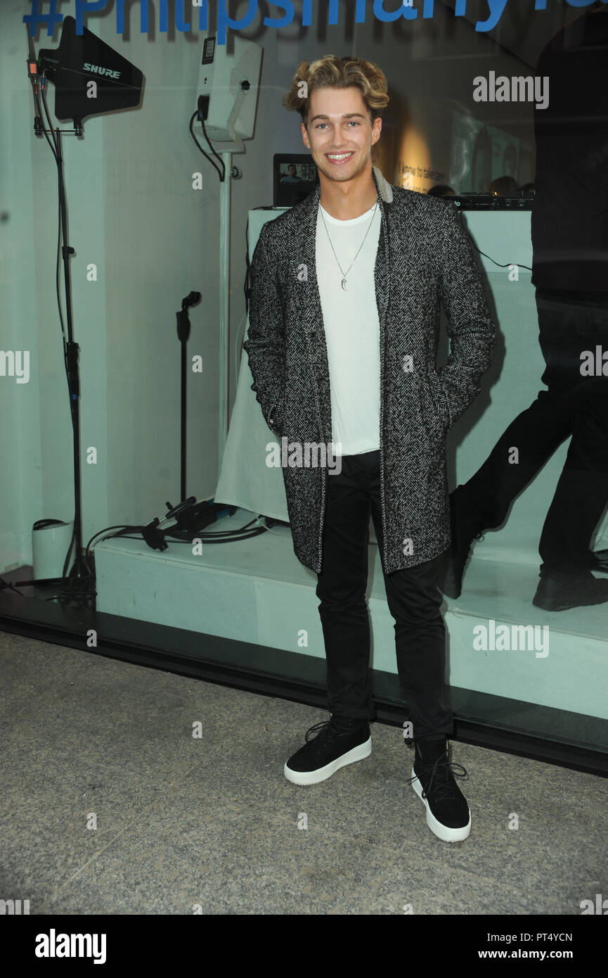 Many Faces of Man by Philips event in London  Featuring: AJ Prichard Where: London, United Kingdom When: 05 Sep 2018 Credit: WENN.com - Stock Image