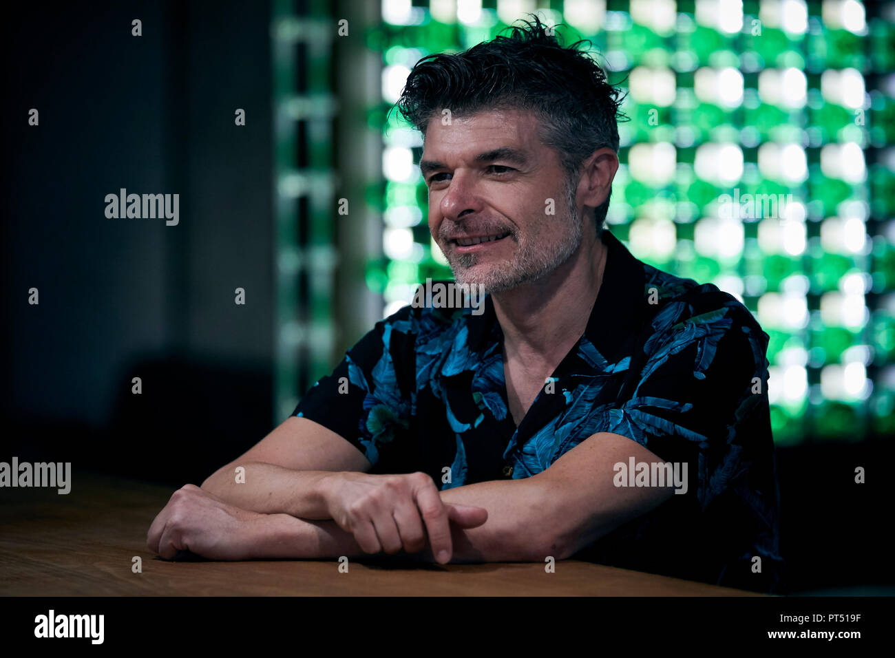 Spanish actor Nacho Guerreros during a portrait session in Madrid. Stock Photo