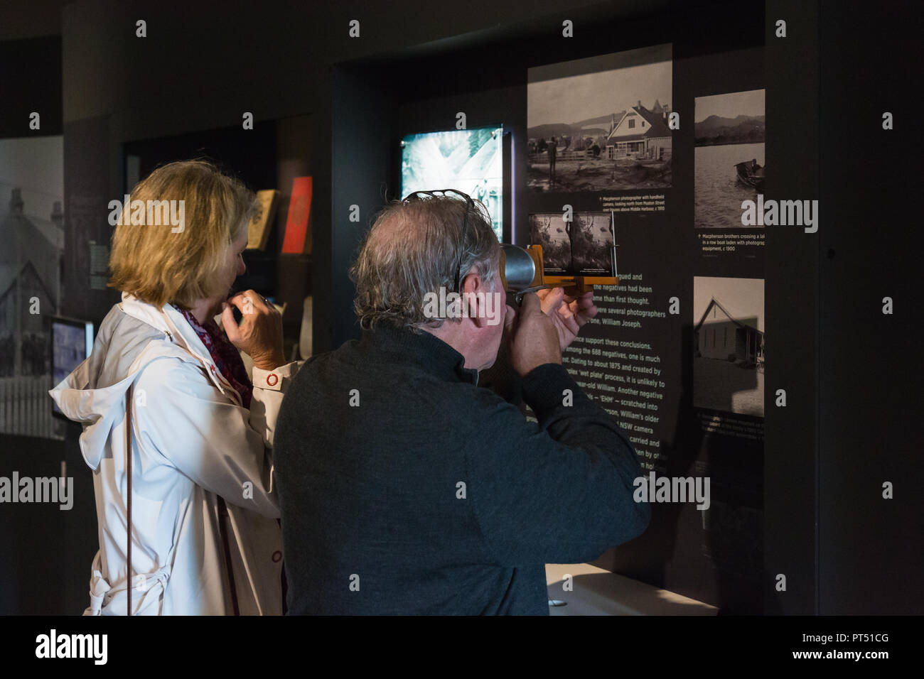 """Sydney, Australia. 6th Oct 2018. 100 year-old images of Sydney to become """"modern classics""""  Extraordinary century-old images of Sydney in transition will go on public display for the first time when the State Library of NSW's major new galleries open to the public today [ Saturday 6 October].  When the Macpherson family's collection of 688 glass-plate negatives were gifted to the Library, it soon became clear to curator Margot Riley that these previously unseen images of Sydney and NSW were """"destined to become modern classics.""""   Credit: Paul Lovelace/Alamy Live News Stock Photo"""