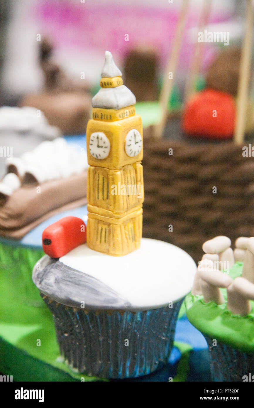 London UK  6th October 2018  Around the world in 80 cakes