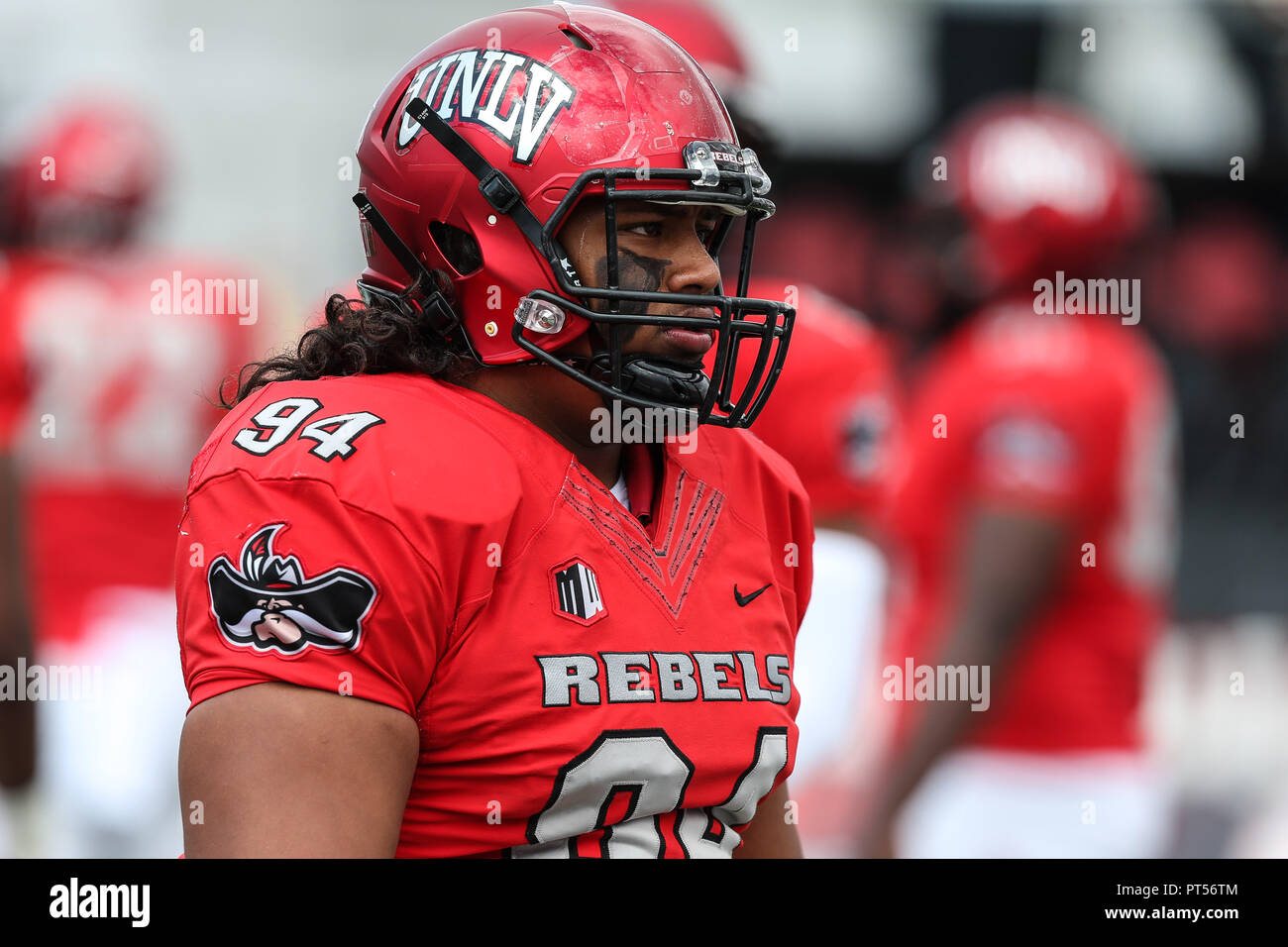 best service 23160 522ff Las Vegas, NV, USA. 6th Oct, 2018. UNLV Rebels defensive ...