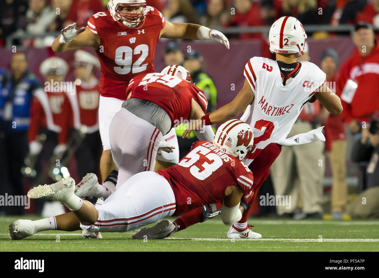 best service 5fc09 bc8f5 Madison, WI, USA. 6th Oct, 2018. Wisconsin Badgers ...