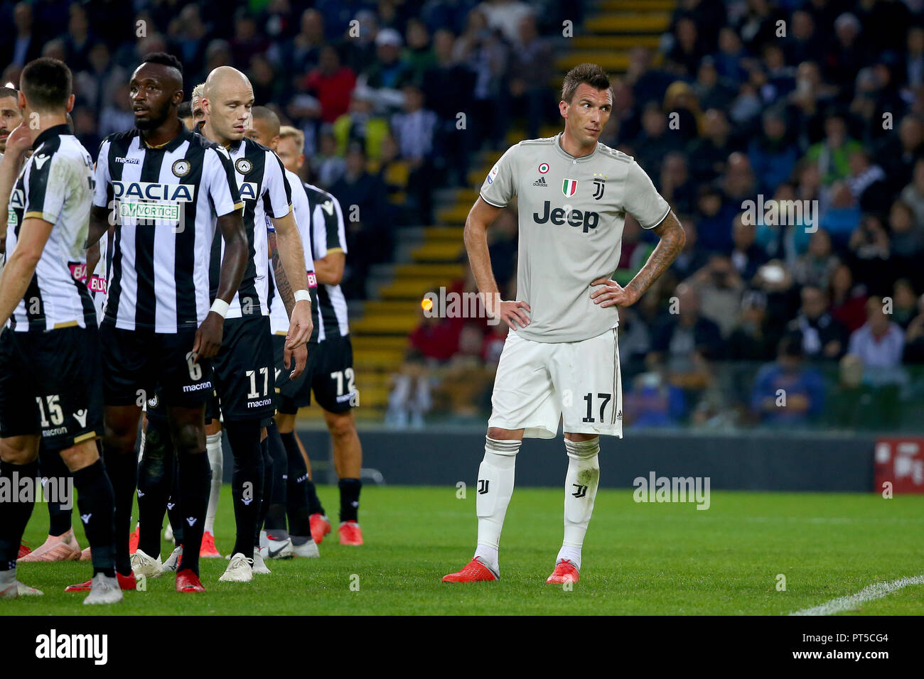Turin Italy 06th Oct 2018 Football Serie A Tim Championship 2018 19 Udinese Vs Fc Juventus 0 2 In The Picture Mandzukic Credit Independent Photo Agency Alamy Live News Stock Photo Alamy