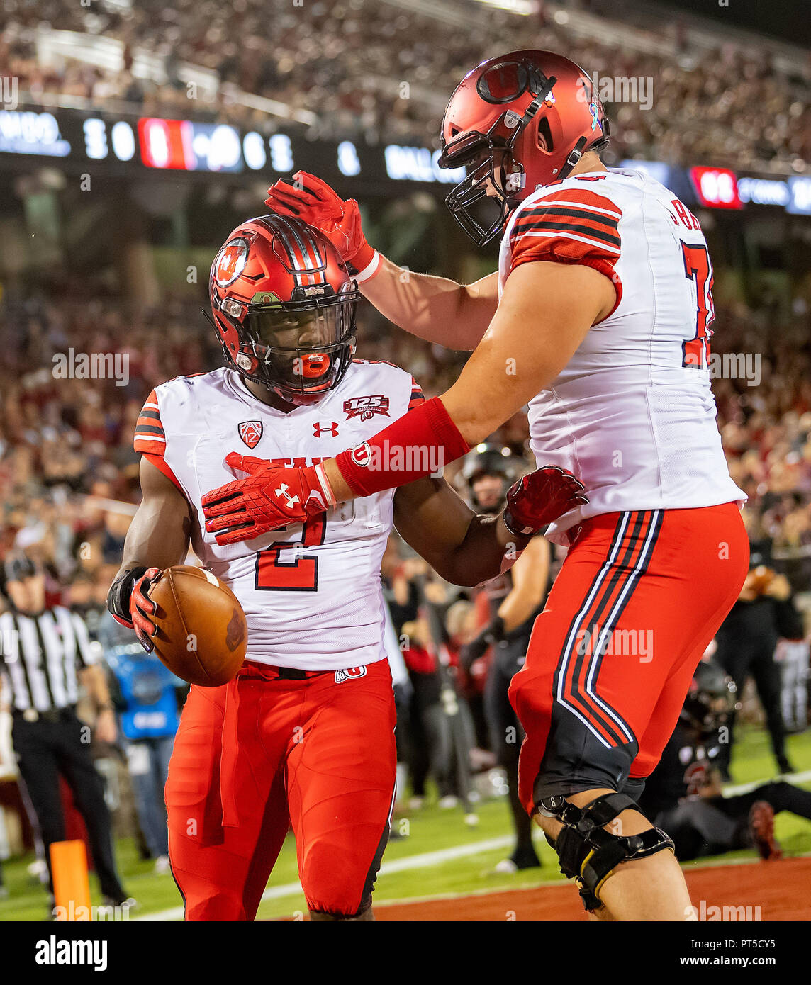 sports shoes 0f593 1e968 Stanford, California, USA. 06th Oct, 2018. Utah Utes running ...